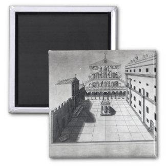 Belvederedomstolen i gammala Sts Peter Rome Magnet