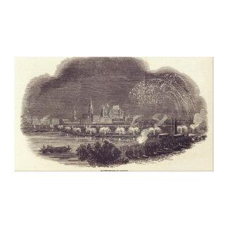 Belysningar av Cologne, 23rd Augusti 1845 Canvastryck