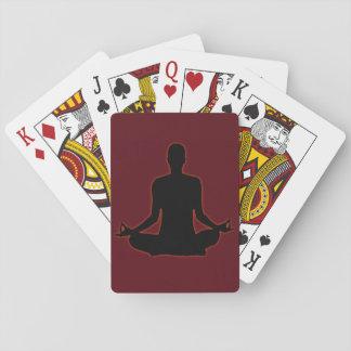 Bemanna att meditera yoga i aftonsolen 01 casinokort