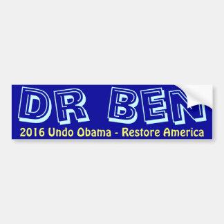 Ben Carson 2016 bildekal - återställande Amerika