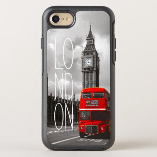 Ben för buss för Retro vintageLondon stad rött OtterBox Symmetry iPhone 7 Skal