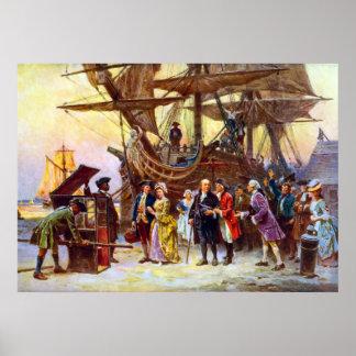 Ben Franklin går tillbaka till Philadelphia Poster