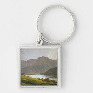 Ben Nevis, pläterar XII från 'landskap av Grampian Fyrkantig Silverfärgad Nyckelring