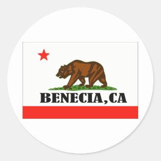 Benecia Ca -- Dräkt Runt Klistermärke