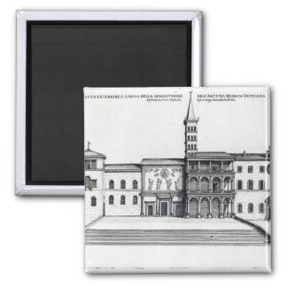 Benedictionloggiaen av den gammala Vaticanen Magnet