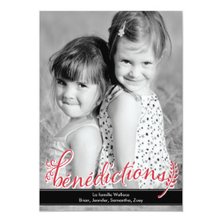 Bénédictions Holiday Photo Cards 12,7 X 17,8 Cm Inbjudningskort