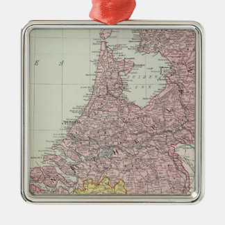 Benelux länder julgransprydnad metall