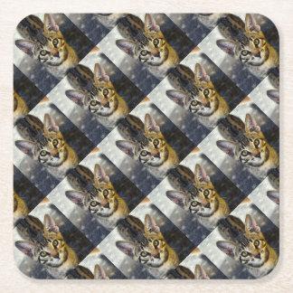 Bengal gullig kattunge underlägg papper kvadrat
