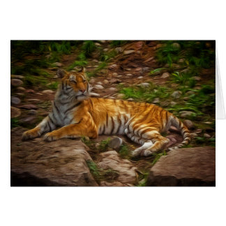 Bengal tiger hälsningskort