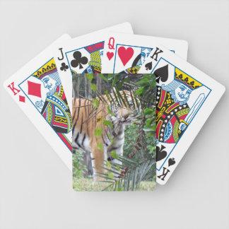 Bengal tiger som leker kort spelkort