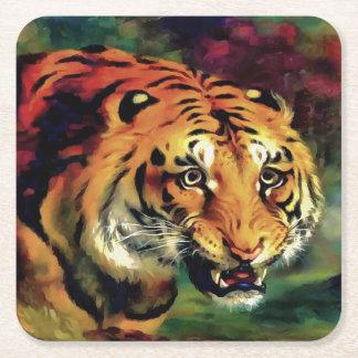 Bengal tiger underlägg papper kvadrat