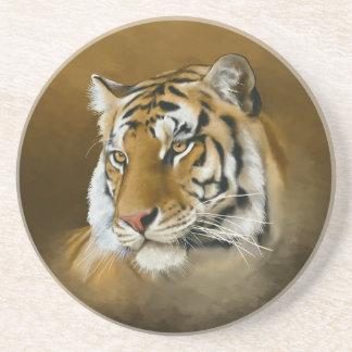Bengal tiger underlägg sandsten