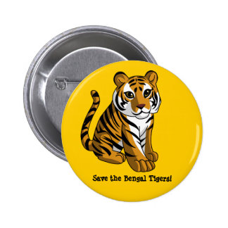 Bengal tigrar standard knapp rund 5.7 cm