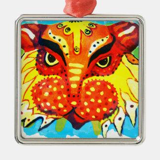 Bengali nya år lejona designgåvor & mobila fodral julgransprydnad metall