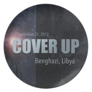 Benghazi täcker upp tallrik