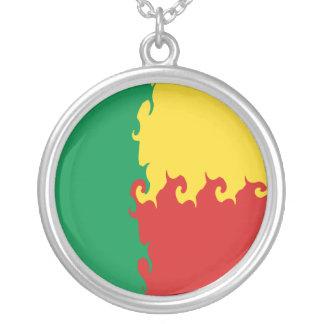 Benin Gnarly flagga Halsband Med Rund Hängsmycke