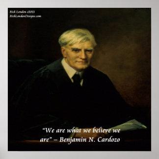 "Benjamin Cardozo & ""vem vi är"" Poster"