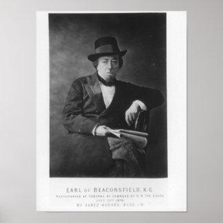 Benjamin Disraeli, 1st Earl av Beaconsfield Poster