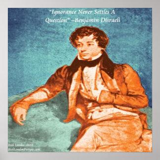 Benjamin Disraeli & Poster
