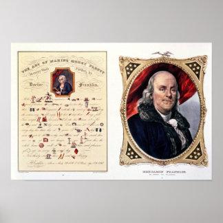 Benjamin Franklin 1847 Poster