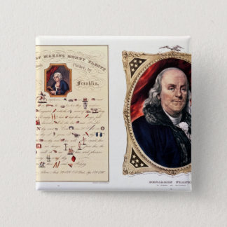 Benjamin Franklin 1847 Standard Kanpp Fyrkantig 5.1 Cm