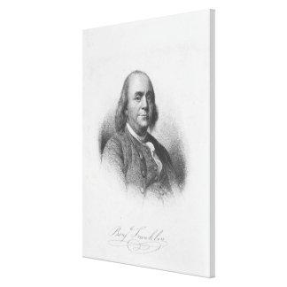 BENJAMIN FRANKLIN av Henry Bryan Hall Canvastryck