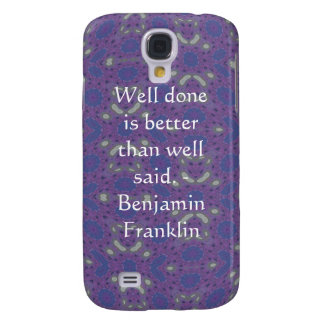 Benjamin Franklin citationstecken med primitiv des Galaxy S4 Fodral