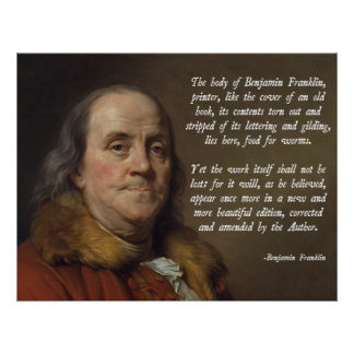 Benjamin Franklin himmel Poster