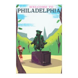 Benjamin Franklin Philadelphia tecknad Canvastryck