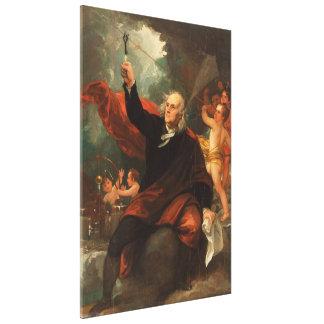 Benjamin Franklin teckningelektricitet från Canvastryck