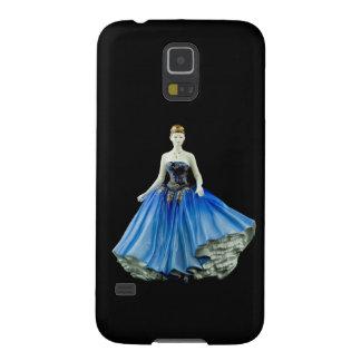 BenporslinFigurine som ha på sig en blåttklänning Galaxy S5 Fodral