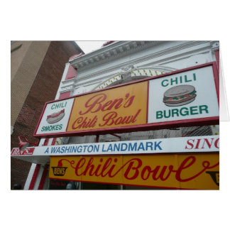 Bens Chili kopp, Washington DC, iconic landmark Hälsningskort