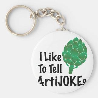 Berätta Artijokes Rund Nyckelring