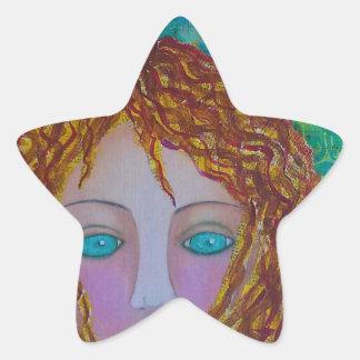 Berättelsen Girl.jpg Stjärnformat Klistermärke