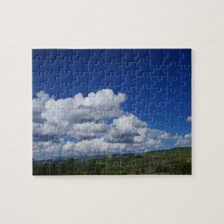 Berg blå himmel, i Escalante, Utah Pussel