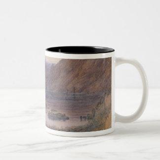 Berg en sjö, norge, c.1827 kaffe mugg