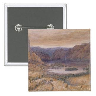 Berg en sjö, norge, c.1827 standard kanpp fyrkantig 5.1 cm