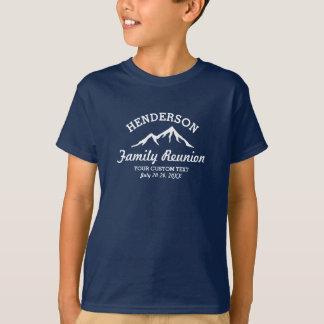 Berg för coolan för resan för vintagefamiljmötet t shirts