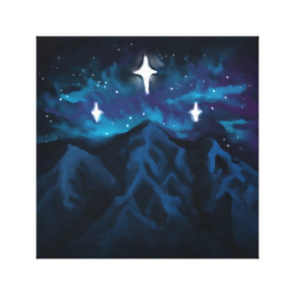 Berg i Starlight Canvastryck
