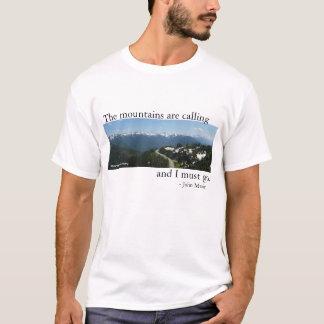 Berg kallar - tända tee shirt