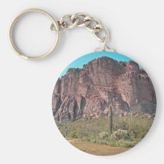 Berg med saguaroen rund nyckelring