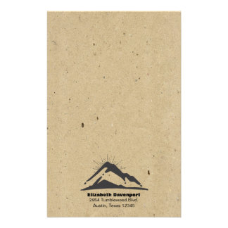 Berg med Sunrays på struktur för FAUXKraft papper