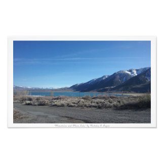 """""""Berg och Mono sjö,"""" natur Fototryck"""