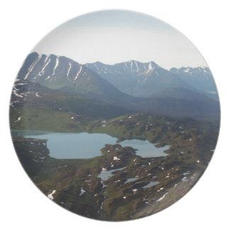 Berg och sjöar, Alaska Tallrik