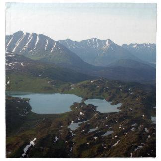 Berg och sjöar, Alaska Tygservett