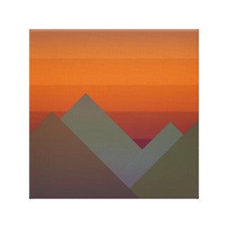 Berg på solnedgången canvastryck
