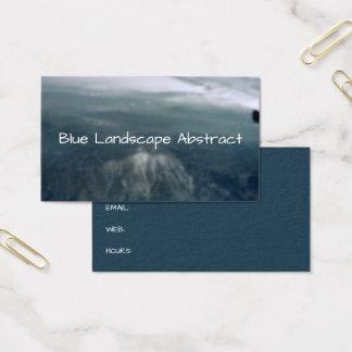 Bergabstraktblått landskap bakgrund visitkort