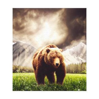 Bergbjörn Canvastryck