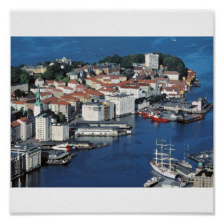 Bergen norge print