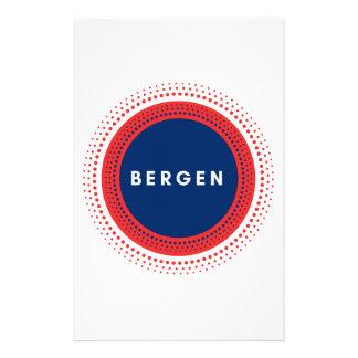 Bergen norge brevpapper
